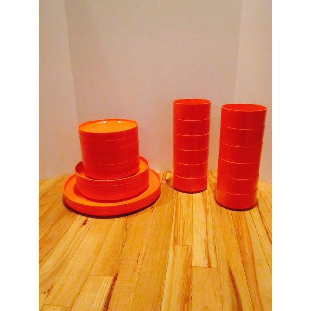 Wow, it's Orange!!!!!!!!!! Set of 30 amazing Heller and Vignelli Mod dinnerware. Nice clean condition; pre-owned and pre-...