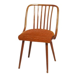 Mid-Century Upholstered Chair by Antonin Suman for Ton, 1965 For Sale