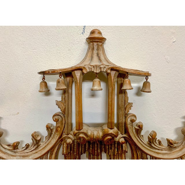 Asian LaBarge Chinese Chippendale Style Pagoda Mirror For Sale - Image 3 of 9