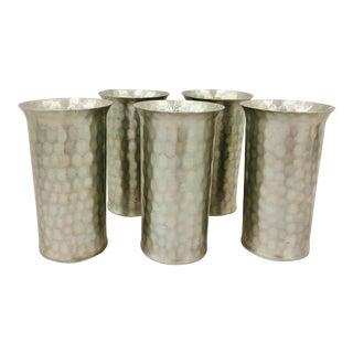 Vintage Mid Century Everlast Aluminum Tumblers - Set of 5 For Sale