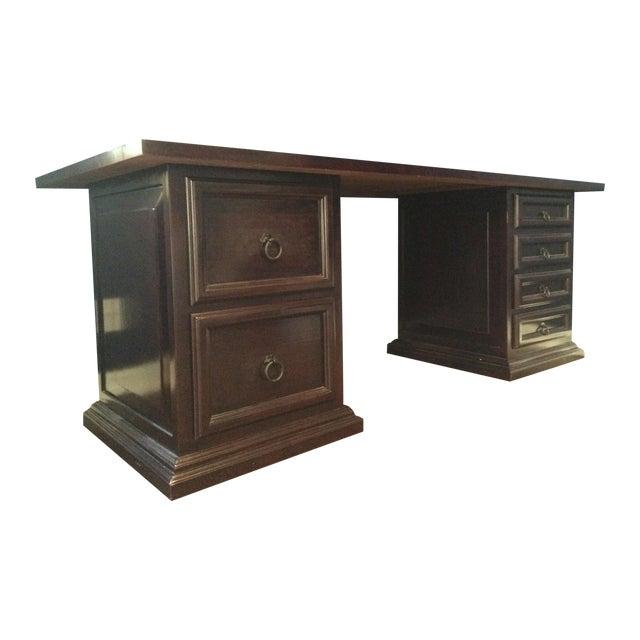 Pampa Furniture Traditional Dark Wood Desk - Image 1 of 5