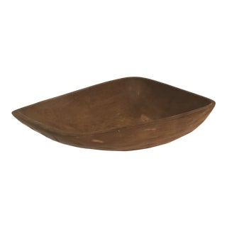Late 20th Century Farmhouse Wooden Dough Bowl For Sale