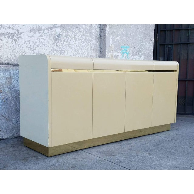 Modern Vintage Lane Brass & Ivory Credenza For Sale - Image 3 of 5