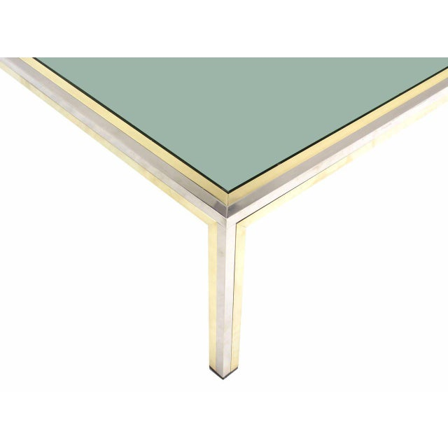 Nice Italian modern coffee table by Romeo Rega 39x39