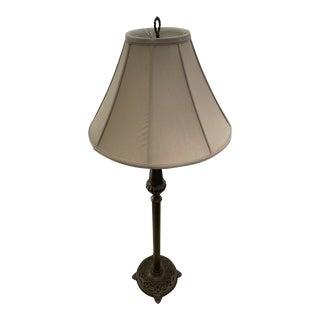 Ethan Allen Bronze Flame Floor Lamp For Sale