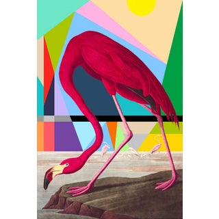 """Modern Flamingo"" Limited Edition Fine Art Print by Artist Tony Curry For Sale"