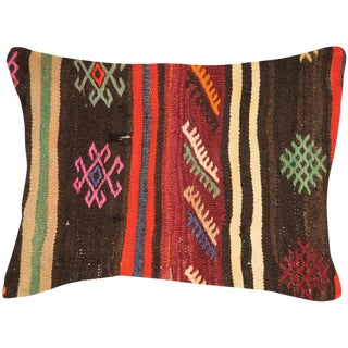 "Nalbandian - Turkish Kilim Pillow - 18"" X 24"" For Sale"