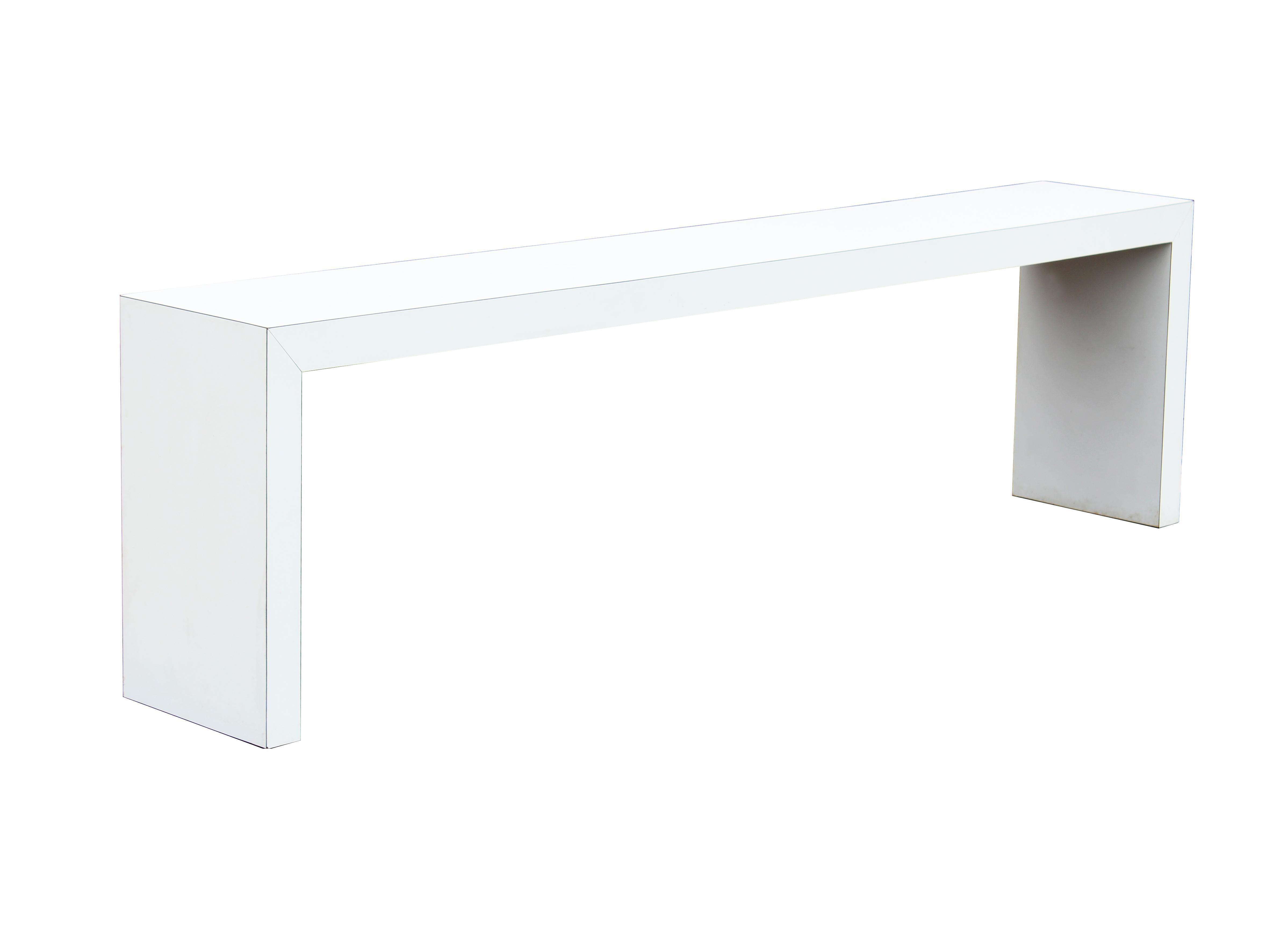 White Parsons Console Table 91 Quot Chairish