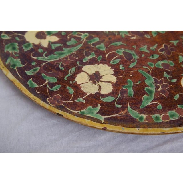 Italian Painted and Glazed Terra Cotta Charger For Sale - Image 4 of 8