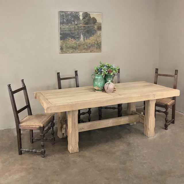 Antique Grand Rustic Stripped Oak Dining Table was crafted with very tailored lines, making it the perfect choice for...