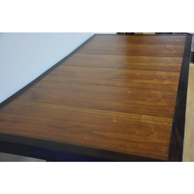 Mid-Century Modern Edward Wormley for Dunbar Mahogany and Walnut Dining Table For Sale - Image 3 of 11