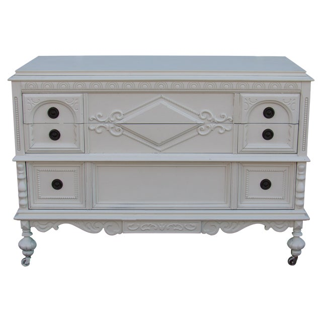 Jacobean/Gothic Lowboy Chest of Drawers - Image 1 of 6