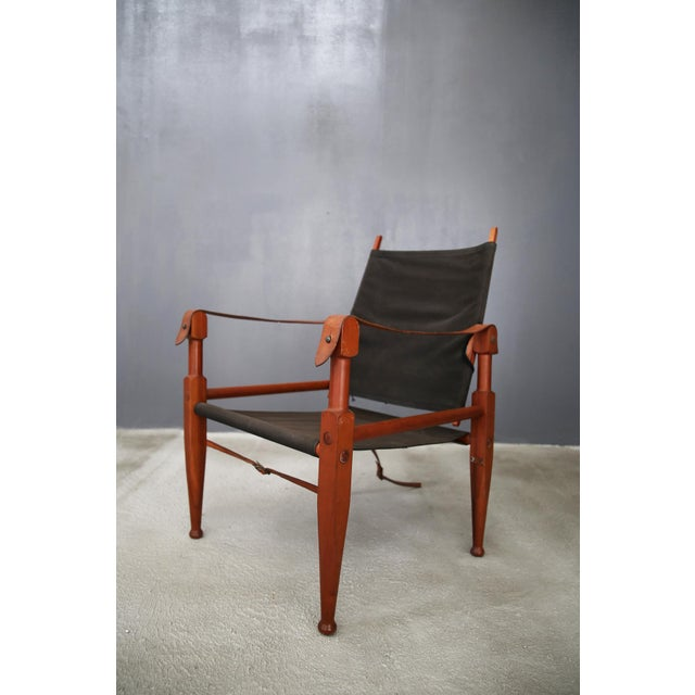 African Pair of Vintage Safari Chairs by Kaare Klint for Rud. Rasmussen For Sale - Image 3 of 8