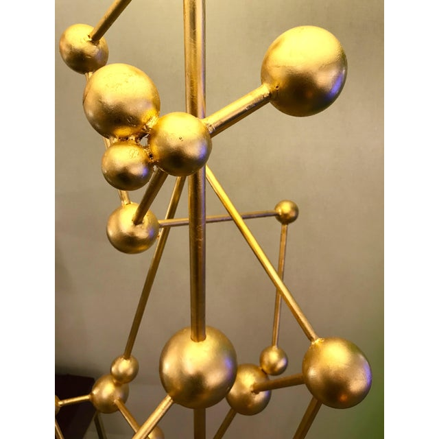 2010s Floor Lamp Atomica Iron Gold Leaf by Antonio Cagianelli, Italy, 2018 For Sale - Image 5 of 12