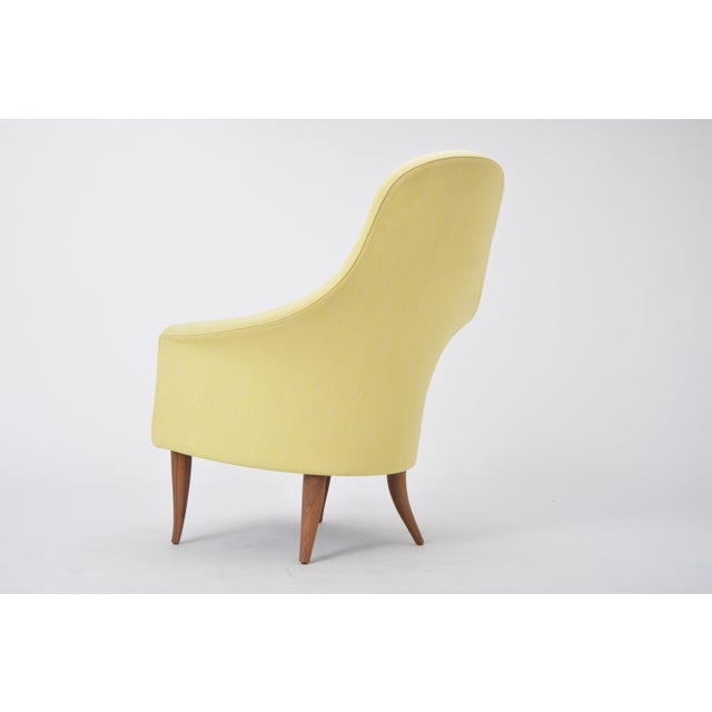 Large Adam' Reupholstered Lounge Chair With Ottoman by Kerstin Hörlin-Holmquist For Sale - Image 6 of 12
