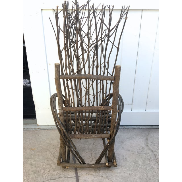 Adirondack Bent Twig Willow Chair - Image 6 of 6