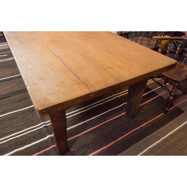 Mid 19th Century 1840's English Farm House Table For Sale - Image 5 of 9