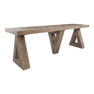 Triple Triangle Console Table For Sale