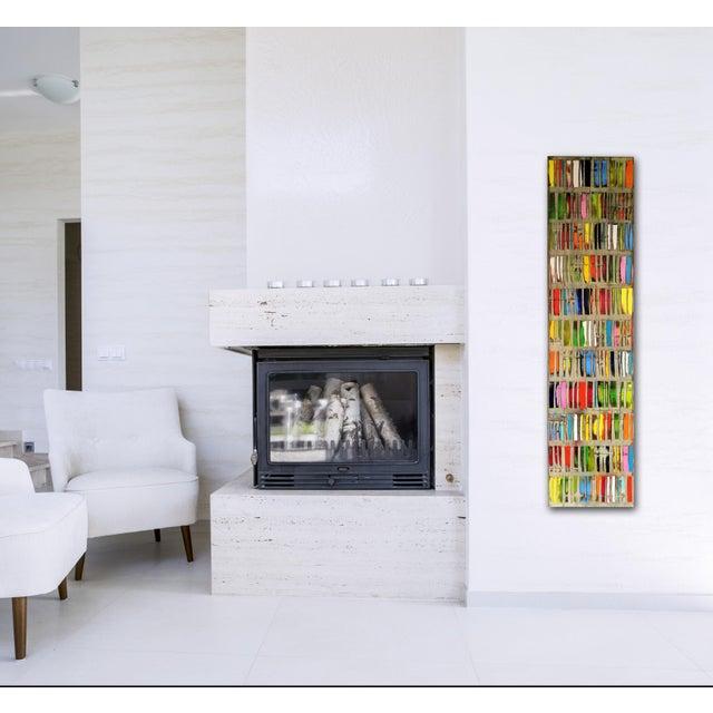 "Industrial ""Happy Dark Grey"" Original Oil Painting For Sale - Image 3 of 8"