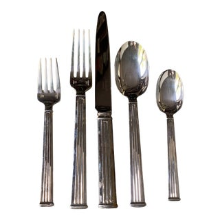 Christofle Triade Silver Flatware Set - 61 Pieces For Sale