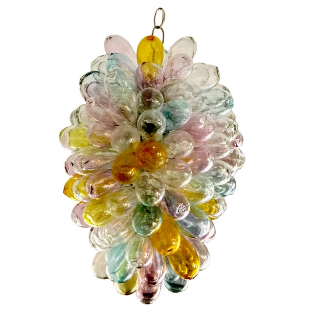Soft Candy Colored Balloon Shape Light Fixture of Recycled Handblown Glass For Sale - Image 12 of 12
