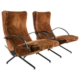 Pair of P40 Lounge Chairs by Osvaldo Borsani for Tecno For Sale