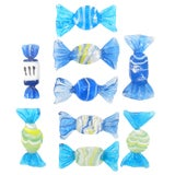 Image of Blue Murano Art Glass Candies, Set of 9 For Sale