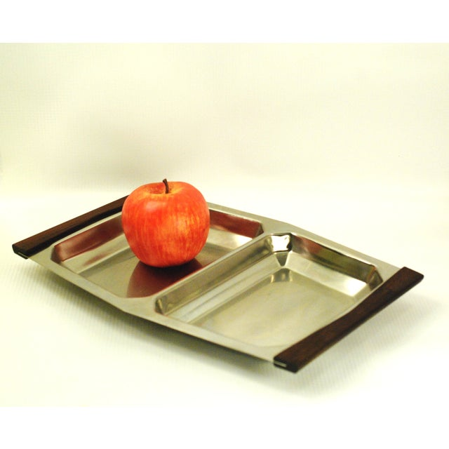 Mid-Century Modern Stelton Stainless Tray For Sale - Image 5 of 7