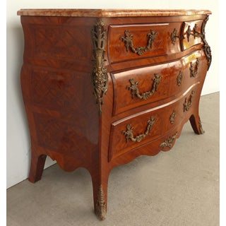 Italian Early 20th-C Bombe Commode With Bronze Mounts & Marble Preview