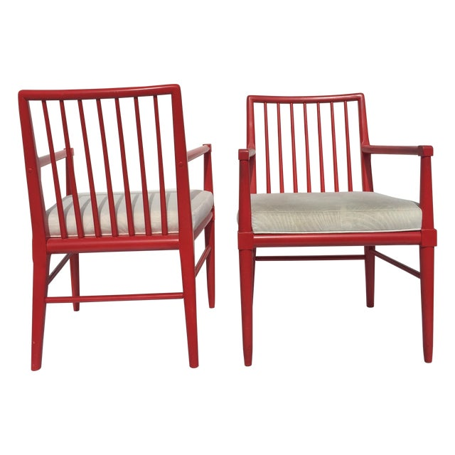 Robsjohn Gibbings Style Armchairs - A Pair For Sale
