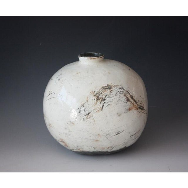Contemporary Kang Hyo Lee, Puncheong Oval Bottle (Mountain Water), 2012 For Sale - Image 3 of 3