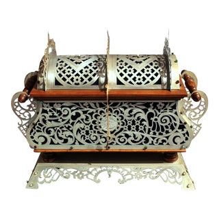 Late 19th Century Byzantine Style Silvered Metal Jewelry Casket For Sale