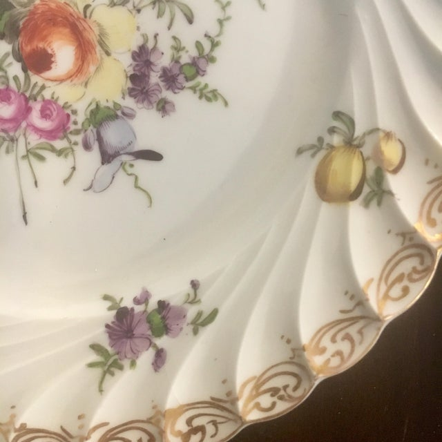 Mid 19th Century Helena Wolfsohn Dresden Handpainted Dessert Plates - Set of 3 For Sale - Image 5 of 13