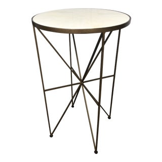 Hollywood Regency Gabby Retro Style Side Table For Sale