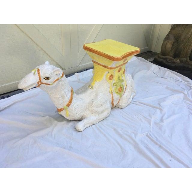 1970s Italian Terra-Cotta Camel Garden Seat For Sale - Image 5 of 13