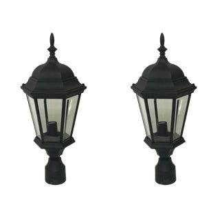 Aluminum Post Lanterns - A Pair For Sale