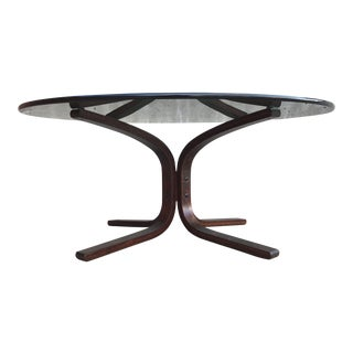 Scandinavian Modern Bentwood Siesta Coffee Table by Westnofa For Sale