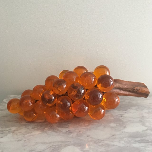Oversized Orange Lucite Grapes For Sale - Image 4 of 6