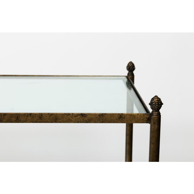 Pair of 1980s Three-Tier Glass Etageres For Sale - Image 4 of 13