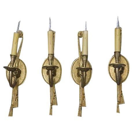 Rope & Tassel Wall Sconces - Set of 4 - Image 1 of 4