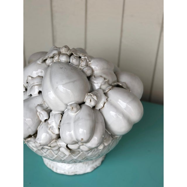 Vintage Ceramic Topiary Urn of Fruit For Sale - Image 4 of 8