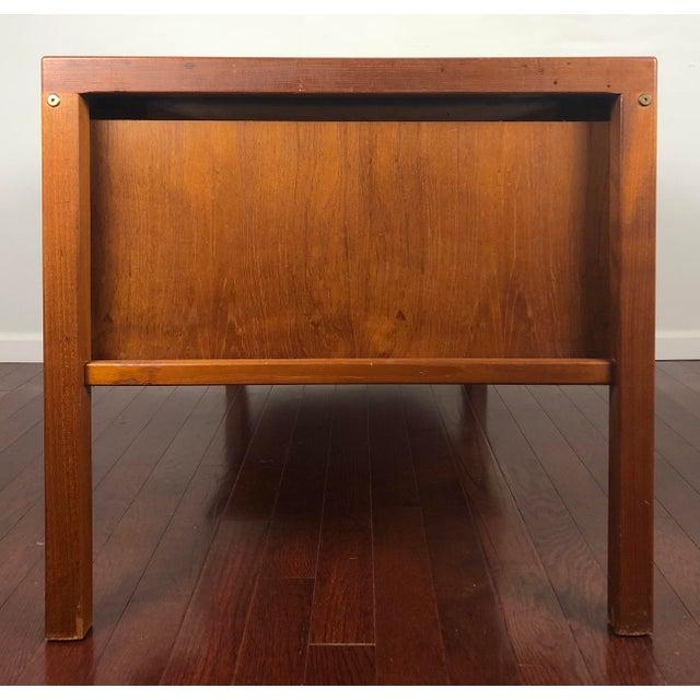 1960s Mid Century Modern Bent Silberg Teak Tanker Desk For Sale - Image 10 of 12