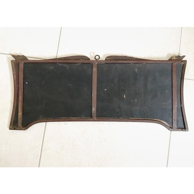 French Style Wood Bistro Sign Wall Hanging Metal Frame Ebony - Image 8 of 9