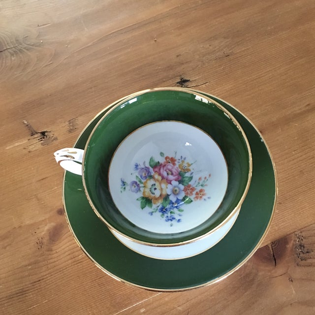 Traditional Crown Staffordshire Tea Cup For Sale - Image 3 of 9