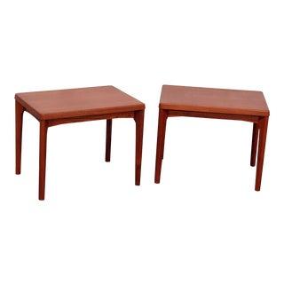 Mid-Century Modern Teak End Tables - a Pair For Sale