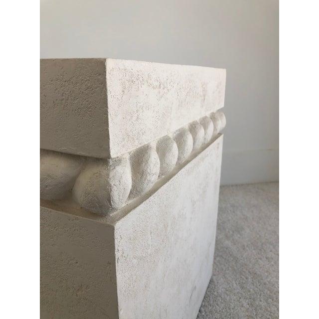 1980s Vintage Postmodern Decorative Plaster Pedestal For Sale - Image 5 of 10
