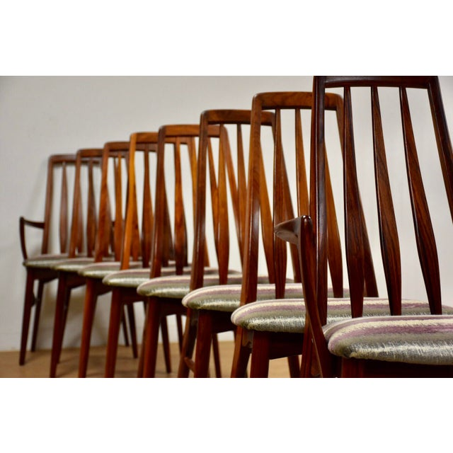 Dining Chairs by Niels Koefoed for Hornslet - Set of 8 For Sale - Image 11 of 12