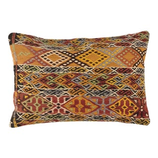 "Vibrant Vintage XL Lumbar Pillow | 16"" X 24"" For Sale"