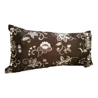 Last Call Black & White Needlepoint Lumbar Pillow