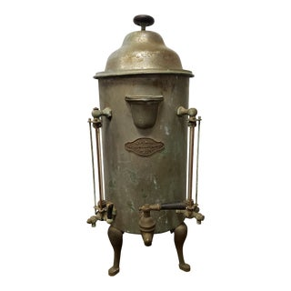 Large Antique Copper Coffee Shop Kettle Urn by H. H. Storch Brooklyn NY For Sale